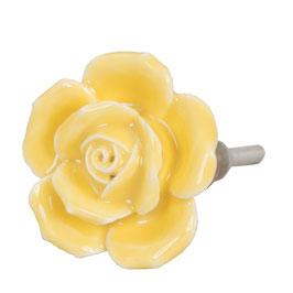 Möbelknopf Rose gelb 61866
