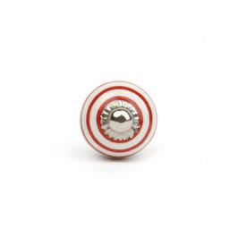 Möbelgriff A59, klein Streifen weiss/rot