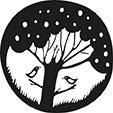 """Holzstempel """"Baum mit Vögel"""""""
