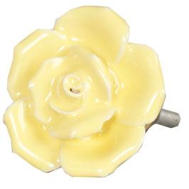 Möbelknopf Rose zartgelb 62557