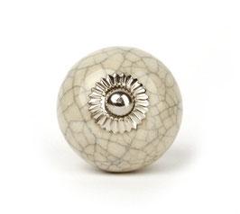 Möbelknopf A22, marmoriert, weiss
