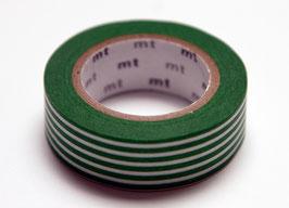 """Masking Tape """"grün mit weissen Längsstreifen"""""""