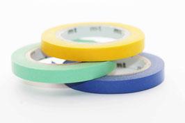 """Masking-Tape-Set 3 schmale Rollen """"uni gelb/hellgrün/blau"""""""