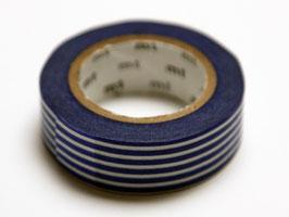 """Masking Tape """"blau mit weissen Längsstreifen"""""""