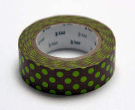 "Masking Tape ""Punkte braun-grün"""