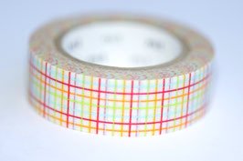 "Masking Tape ""Karo orange/rot"""