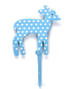 Haken, Bambi, Punkte hellblau/weiss, Q01
