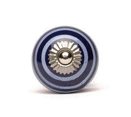 Möbelgriff A38, Streifen dunkelblau/weiss