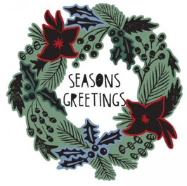 Sizzix Framelits Die Set 8 Teile mit Stempeln - Seasons Greetings