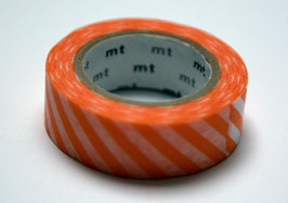 "Masking Tape ""orange, quergestreift"""