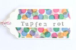 "Masking Tape ""Tupfen rot"""