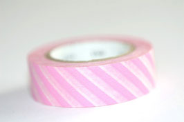 "Masking Tape ""rosa quergestreift"""