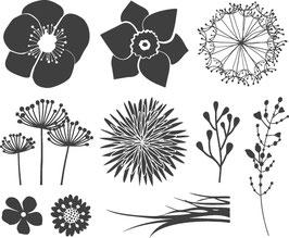 "Holzstempelset ""Blumen"""