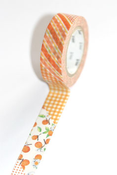 "Masking Tape ""orange Blümchen"""