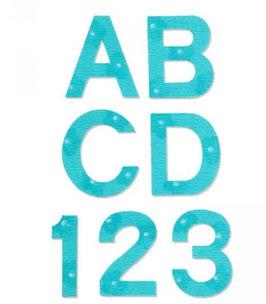 """Sizzix Bigz Alphabet Set 9 Dies - Block 1 1/2"""" Capital Letters & Numbers"""