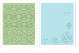 """Sizzix Textured Impressions Embossing Folders, """"Winter Snowflakes Set """""""