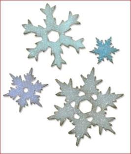 Stanzschablone Sizzix Bigz L, Stacked Snowflakes