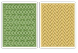 "Sizzix Textured Impressions Embossing Folders, ""Chevron & Lattice Set"""