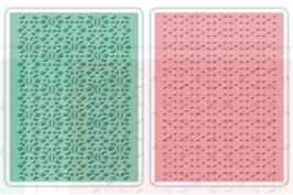 "Sizzix Textured Impressions Embossing Folders, ""Lace Set #2"""