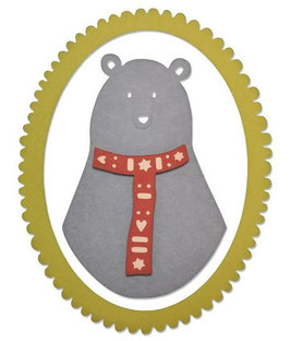 Sizzix Thinlits Die Set 3Teile - Loving Bear