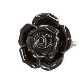 Möbelknopf Rose schwarz 61873