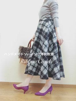 【レベル1】大人服フレアスカート型紙