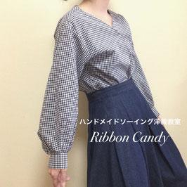 【レベル2】大人服ドレスシャツ・バルーンスリーブ袖型紙