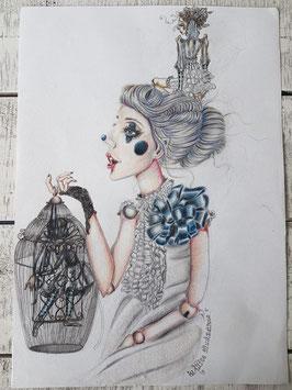 The caged Raven ballerina