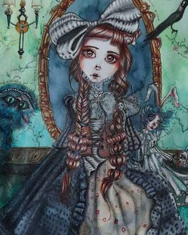 Dear Alice original art work on paper A3  Sold