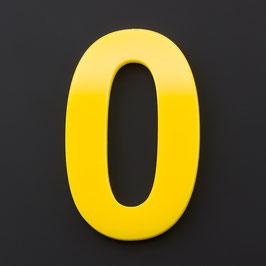 Hausnummer 25 cm Gelb RAL: 1H01