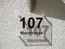 3D Hausnummern Schild Transparent