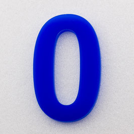 Hausnummer 25 cm Blau RAL: 5H01