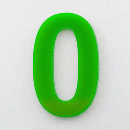 Hausnummer 25 cm Hellgrün RAL: 6H02