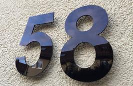 Hausnummer 20 cm Schwarz RAL: 9H01