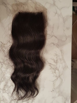 Human hair 4x4 lace top closure body wave