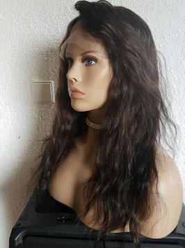 Full lace wig Echthaarperücke Mittelbraun