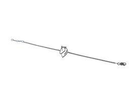 silberarmkette mit pferdekopf