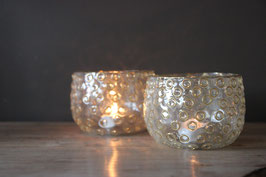 Windlichtjes glas met rondjes mozaiek