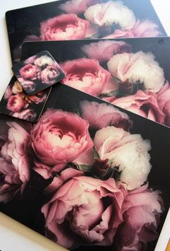 Placemats met rozen print