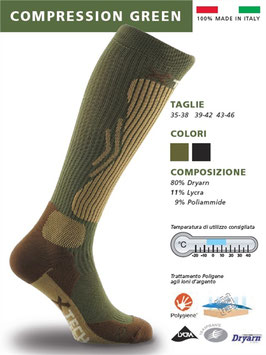 x Tech Compression Green