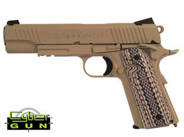 Cybergun Colt 1911 Rail Gun CO2 Blow Back Desert