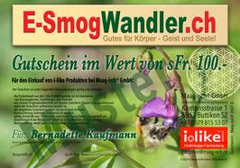 """Gutschein für i-like Produkte """"Frühling mit Biene""""."""