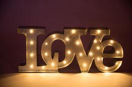 Enseigne métallique lumineuse LOVE