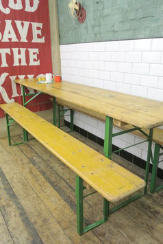 Table pliante bois et métal