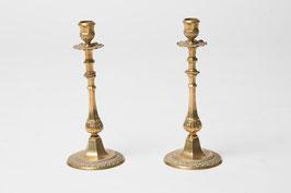 Lot de 2 chandeliers en  métal doré