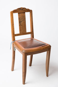 Chaise bois - assise tissus