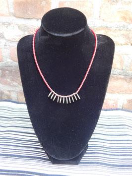 Rode koperen halsketting