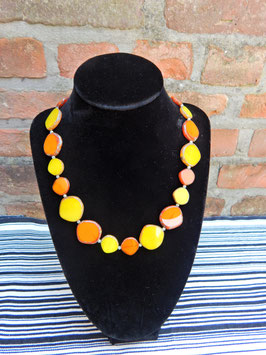 Oranje gele halsketting