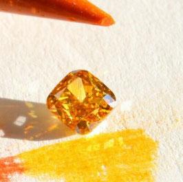 Natural Diamond 0,32 carat fancy vivid brownish orange SI1