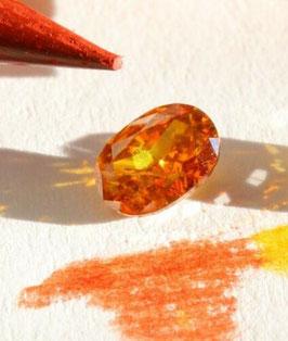 Natural Diamond 0,34 carat fancy depp orangy brown I1